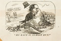 "Books:Americana & American History, [Americana] [Political Cartoon]. Political Cartoon of AndrewJohnson. 1887. It reads, ""My Race is Almost Run!"" with balloon ..."
