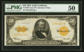 Large Size:Gold Certificates, Fr. 1200 $50 1922 Gold Certificate PMG About Uncirculated 50.. ...