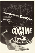 """Movie Posters:Exploitation, The Pace That Kills (R-Late 1940s). One Sheet (27"""" X 41"""").Alternate Title: Cocaine: The Thrill That Kills!. ..."""