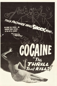 """The Pace That Kills (R-Late 1940s). One Sheet (27"""" X 41""""). Alternate Title: Cocaine: The Thrill That Kills!..."""