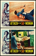 """Movie Posters:Science Fiction, Attack of the 50 Foot Woman (Allied Artists, 1958). Lobby Cards (2)(11"""" X 14"""").. ... (Total: 2 Items)"""