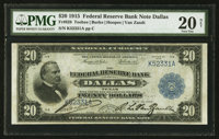 Fr. 828 $20 1915 Federal Reserve Bank Note PMG Very Fine 20 Net