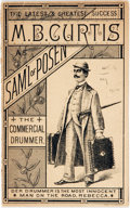 Books:Americana & American History, [Americana]. Small Promotional Pamphlet for the Traveling SalesmanComedy-Drama of Sam'l of Posen. Boston: Forbes, [n.d., ca...