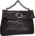 "Luxury Accessories:Bags, Chanel Matte Black Alligator Large Modern Chain Shoulder Bag withGunmetal Hardware. Excellent Condition. 15"" Width x..."