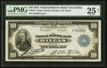 Fr. 819 $10 1915 Federal Reserve Bank Note PMG Very Fine 25 Net