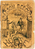 Books:Americana & American History, Bricktop (pseudonym). Parson Beecher and His Horse.Illustrated by Thomas Worth. New York: Winchell & Small, 1871.F...