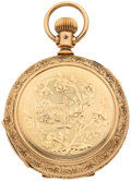 Timepieces:Pocket (post 1900), Elgin Gold Filled Hunter's Case Pocket Watch. ...