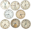 Timepieces:Other , Eight Various Movements . ... (Total: 8 Items)