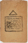 Books:Americana & American History, William Cook. The Ploughboy's Harrow, Number Three. Salem,1860. Original printed wrappers, with some dampstaining a...