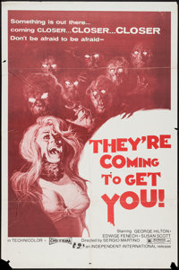 """They're Coming to Get You and Others Lot (Independent-International, 1976). One Sheets (4) (27"""" X 41""""). Horror..."""