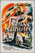 "Movie Posters:Science Fiction, Satan's Satellites (Republic, 1958). One Sheet (27"" X 41""). ScienceFiction.. ..."
