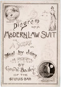 Books:Americana & American History, George W. Bailey. INSCRIBED. Diagram of a Modern Law Suit; or, ASatire on Trial by Jury. [N.p.], 1891. Inscribed ...
