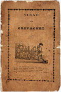 Books:Americana & American History, Roger O. Dogerty (as Peter Madicanscutter). Siege atChepachet. [Providence, 1842]. Original printed wrappers.Light...