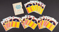 Baseball Cards:Sets, 1971 Dell American & National League Official Baseball Stamps Complete Set (24). ...