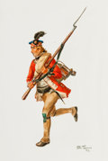 """Military & Patriotic:Revolutionary War, Don Troiani, Artist: Original Signed Watercolor Illustration """"APrivate of the 71st Regiment of Foot, 1781""""...."""