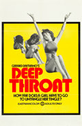 "Movie Posters:Adult, Deep Throat (Aquarius Releasing, 1972). One Sheet (25"" X 38"").. ..."
