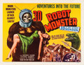"Movie Posters:Science Fiction, Robot Monster (Astor Pictures, 1953). Half Sheet (22"" X 28"") 3-DStyle.. ..."