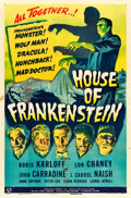 "Movie Posters:Horror, House of Frankenstein (Universal, 1944). One Sheet (27"" X 41"")....."