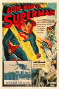 "Movie Posters:Serial, Atom Man vs. Superman (Columbia, 1950). One Sheet (27"" X 41"") Chapter 1 -- ""Superman Flies Again."". ..."