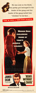 "Movie Posters:Drama, Rebel without a Cause (Warner Brothers, 1955). Insert (14"" X 36"").. ..."