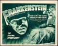 "Movie Posters:Horror, Frankenstein (Universal, R-1947). Title Lobby Card (11"" X 14"")....."