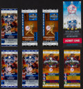 Baseball Collectibles:Tickets, 2000-01 New York Yankees World Series Tickets - Lot of 7....