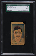 Baseball Cards:Singles (Pre-1930), 1926 W512 Babe Ruth #6 SGC Authentic. ...