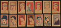 Baseball Cards:Sets, 1926 and 1927 W512/W513 Anonymous Baseball, Boxers and Actors Partial Set (54) With Caption Variations. ...