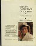 "Books:First Editions, Harlan Ellison: Signed Bound Proof of The City on the Edge ofForever. 94 pages, bracket-bound with a clear cover, 8.5"" ..."