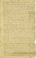 "Autographs:Statesmen, [Francis Lovelace] - Period Copy of Three 17th Century New YorkLand Patents, three pages, 7.25"" x 12.25"", dated March 30, 1..."