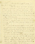 "Autographs:Statesmen, James Guthrie Civil War Autograph Letter Signed, four pages, 7.75"" x 9.5"", Louisville, Kentucky, January 27, 1863, to Mr. P...."