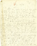 "Autographs:Military Figures, U.S.S. Monitor Inventor John Ericsson Autograph Letter Signed, ""J. Ericsson"", two pages, 7.5"" x 9.75"", n.p.,..."