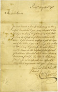 "Autographs:Statesmen, [Iroquois in Pennsylvania: 1735] Robert Charles Important Autograph Letter Signed ""Robt. Charles,"" one page, 7.25"" x 11...."
