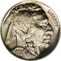 Proof Buffalo Nickels: , 1937 5C PR67 NGC. A stunning proof Buffalo whose fields shimmerwith a brightly reflective, mirrored finish. Pleasing paste...