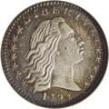 Early Half Dimes: , 1794 H10C --Cleaned--ANACS. AU55 Details. V-2, LM-2, R.5. Thisscarce die marriage is difficult to find in Mint State. The o...