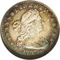 Early Half Dimes: , 1797 H10C 13 Stars AU58 NGC. V-1, LM-4, R.6. After Tennessee wasadmitted as the 16th state in 1796, an additional star to ...