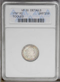 Early Half Dimes: , 1797 H10C 15 Stars--Tooled--ANACS. VF30 Details. V-2, LM-1, R.3. Agreat-looking early half dime, regardless of the net-gra...