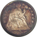Seated Half Dimes: , 1860 H10C Transitional MS64 NGC. Breen-3097, Judd-267, Pollock-315,R.4. In 1860, the legend UNITED STATES OF AMERICA was m...