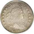 Early Dimes: , 1798/97 10C 16 Stars on Reverse XF40 PCGS. JR-1, R.3. JR-1 is theonly 1798 dime variety with sixteen reverse stars, and he...
