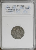 Early Dimes: , 1805 10C 4 Berries--Damaged--ANACS. VF20 Details. JR-2, R.2. Bentnear the date and STATES, and a number of wispy scrapes s...