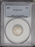 Early Dimes: , 1807 10C Fine 15 PCGS. JR-1, R.2. The obverse shows prominent dieclash marks between the bust and date and in the right fi...