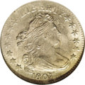 Early Dimes: , 1807 10C MS62 NGC. JR-1, R.2, the only dies. A lustrous lighttan-gray Draped Bust dime that is well struck on the major de...