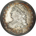 Bust Dimes: , 1827 10C MS66 NGC. JR-5, R.3. When the Mint resumed striking dimesafter a one year hiatus, it coined enough 1827's (1,215,...