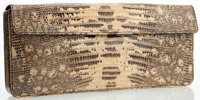 Prada Natural Lizard Envelope Clutch Bag