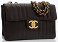 Luxury Accessories:Bags, Chanel Brown Caviar Leather Maxi Flap Bag with Gold Hardware. ...