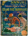 Books:Science Fiction & Fantasy, [Pulps] [Edgar Rive Burroughs]. Amazing Stories Annual, Vol.No. 1. Featuring the new Master Mind of Mars by...
