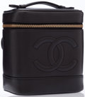 Luxury Accessories:Accessories, Chanel Black Caviar Leather Cosmetics Case. ...