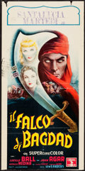 "Movie Posters:Adventure, The Magic Carpet (Columbia, 1952). Trimmed Italian Locandina (13"" X26.5""). Adventure.. ..."