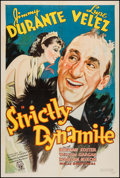 "Movie Posters:Comedy, Strictly Dynamite (RKO, 1934). One Sheet (27"" X 41""). Comedy.. ..."