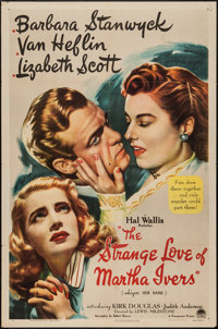 "The Strange Love of Martha Ivers (Paramount, 1946). One Sheet (27"" X 41""). Film Noir"